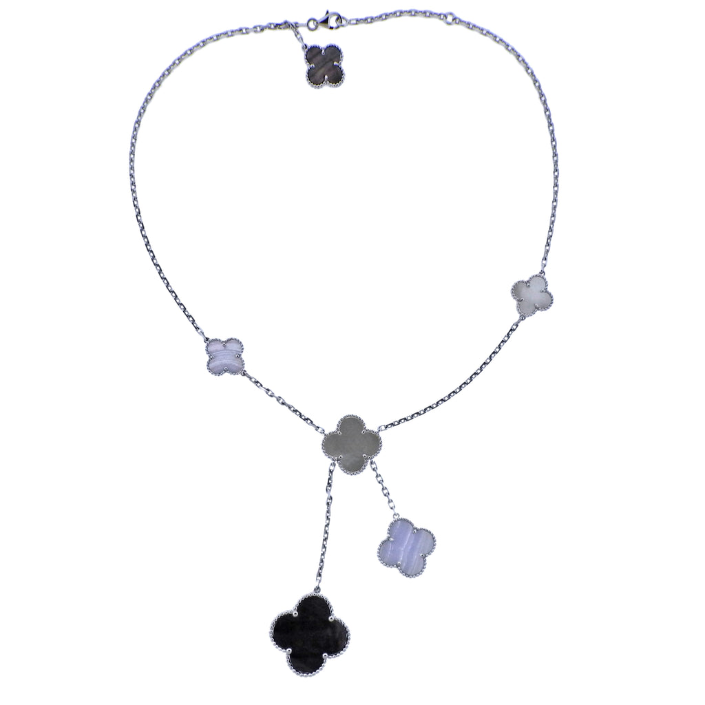 thumbnail image of Van Cleef & Arpels Magic Alhambra Mother of Pearl Chalcedony Necklace