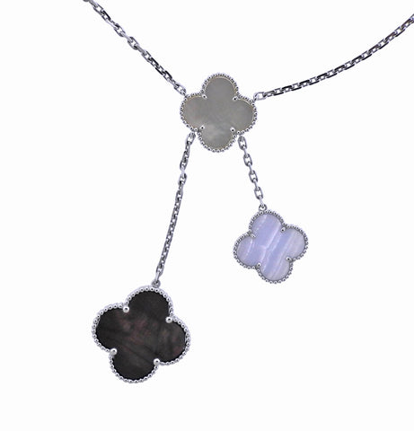 image of Van Cleef & Arpels Magic Alhambra Mother of Pearl Chalcedony Necklace