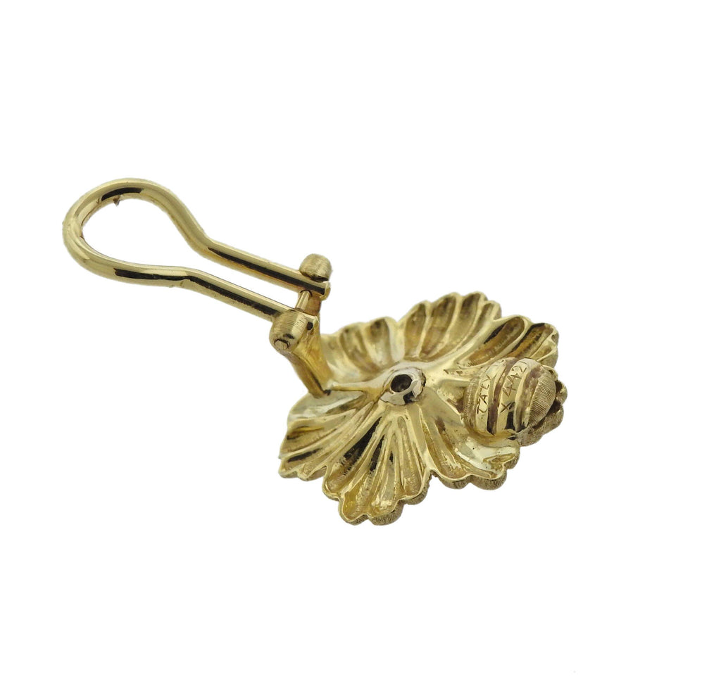 thumbnail image of Buccellati Blossoms Flower Gold Earrings