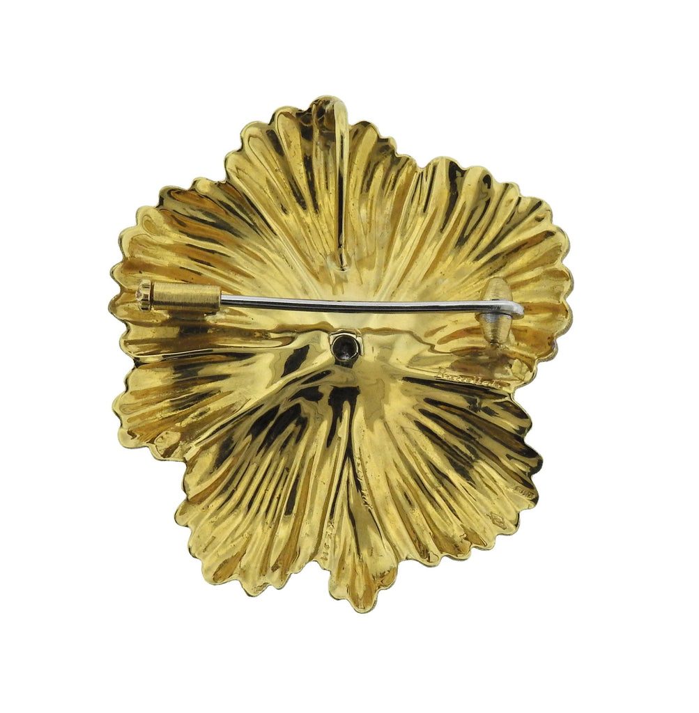 thumbnail image of Buccellati Blossoms Flower Diamond Gold Brooch Pendant