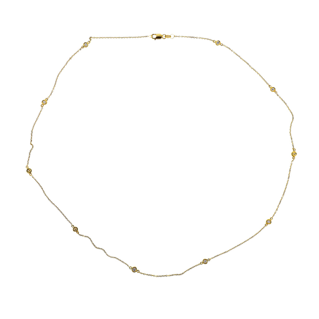 thumbnail image of Modern Diamonds By The Yard Gold Necklace
