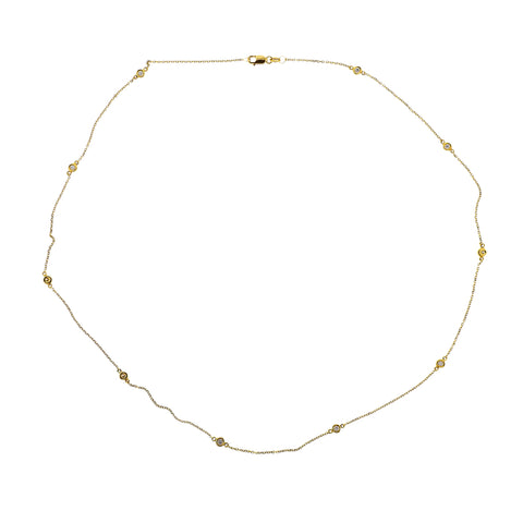 image of Modern Diamonds By The Yard Gold Necklace