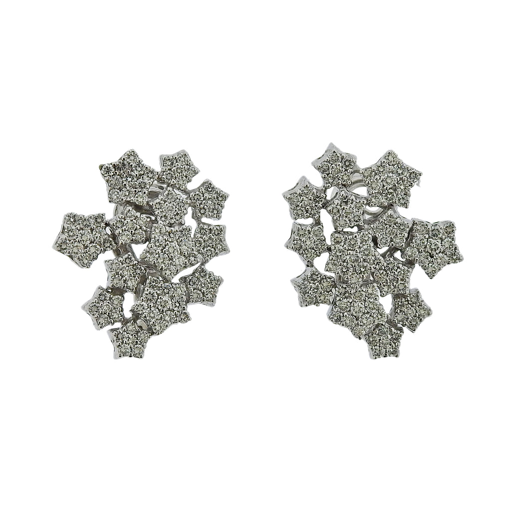 thumbnail image of Pasquale Bruni 18K Gold Pave Diamond Star Earrings