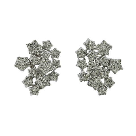 image of Pasquale Bruni 18K Gold Pave Diamond Star Earrings
