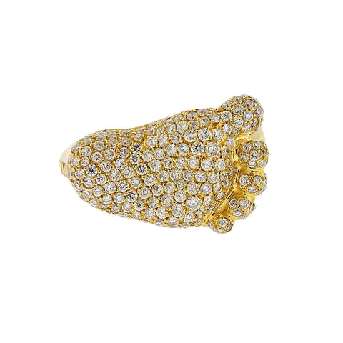 image of Pasquale Bruni 18K Gold Orme Diamond Footprint Ring