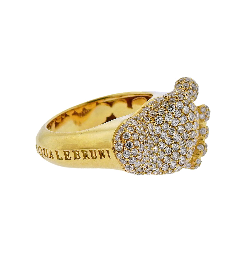 thumbnail image of Pasquale Bruni 18K Gold Orme Diamond Footprint Ring