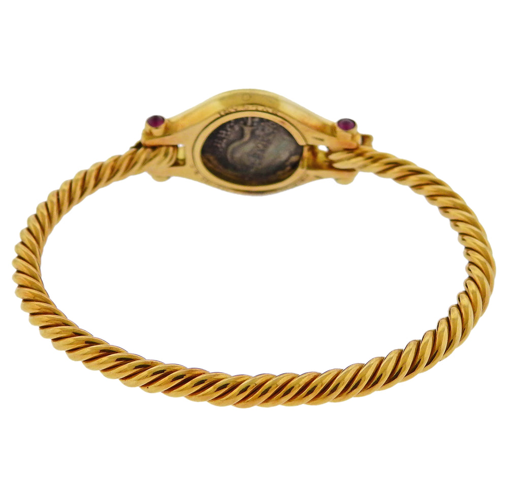 thumbnail image of Bulgari Ancient Coin Ruby Gold Bracelet