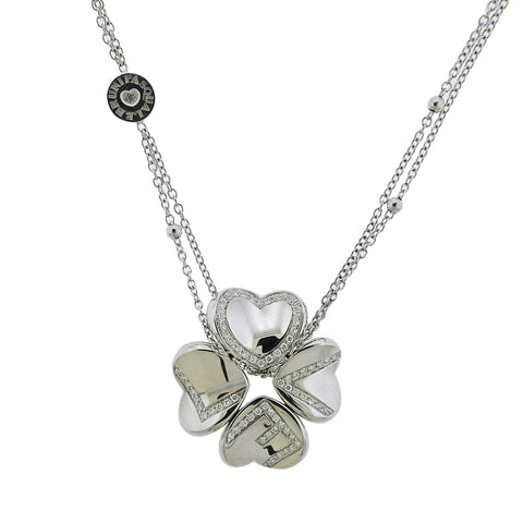 image of Pasquale Bruni 4Love 18K Gold Diamond Clover Necklace