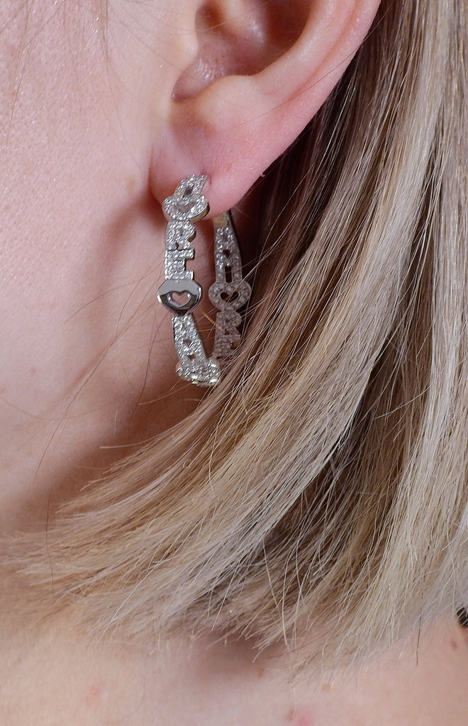 thumbnail image of Pasquale Bruni Amore 18K Gold Diamond Hoop Earrings