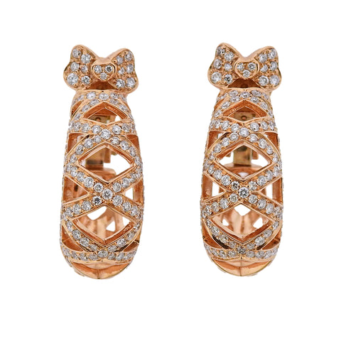image of Pasquale Bruni 18K Rose Gold Cage Diamond Earrings