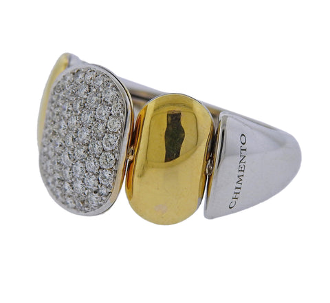 image of Chimento 18k Two Tone Gold Diamond Ring
