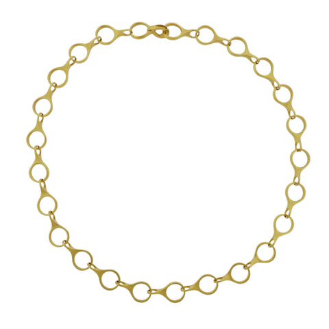 image of Caroline Ellen Gold Link Necklace