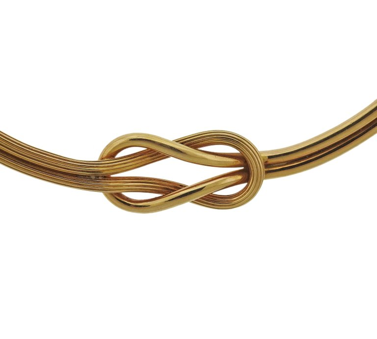 thumbnail image of Lalaounis Greece Gold Hercules Knot Necklace
