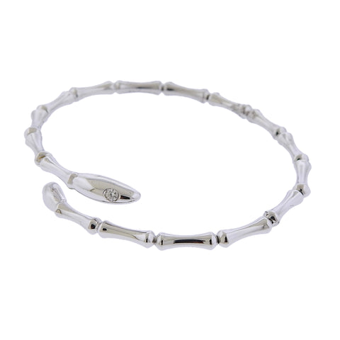 image of Chimento 18k Gold Diamond Bamboo Bracelet