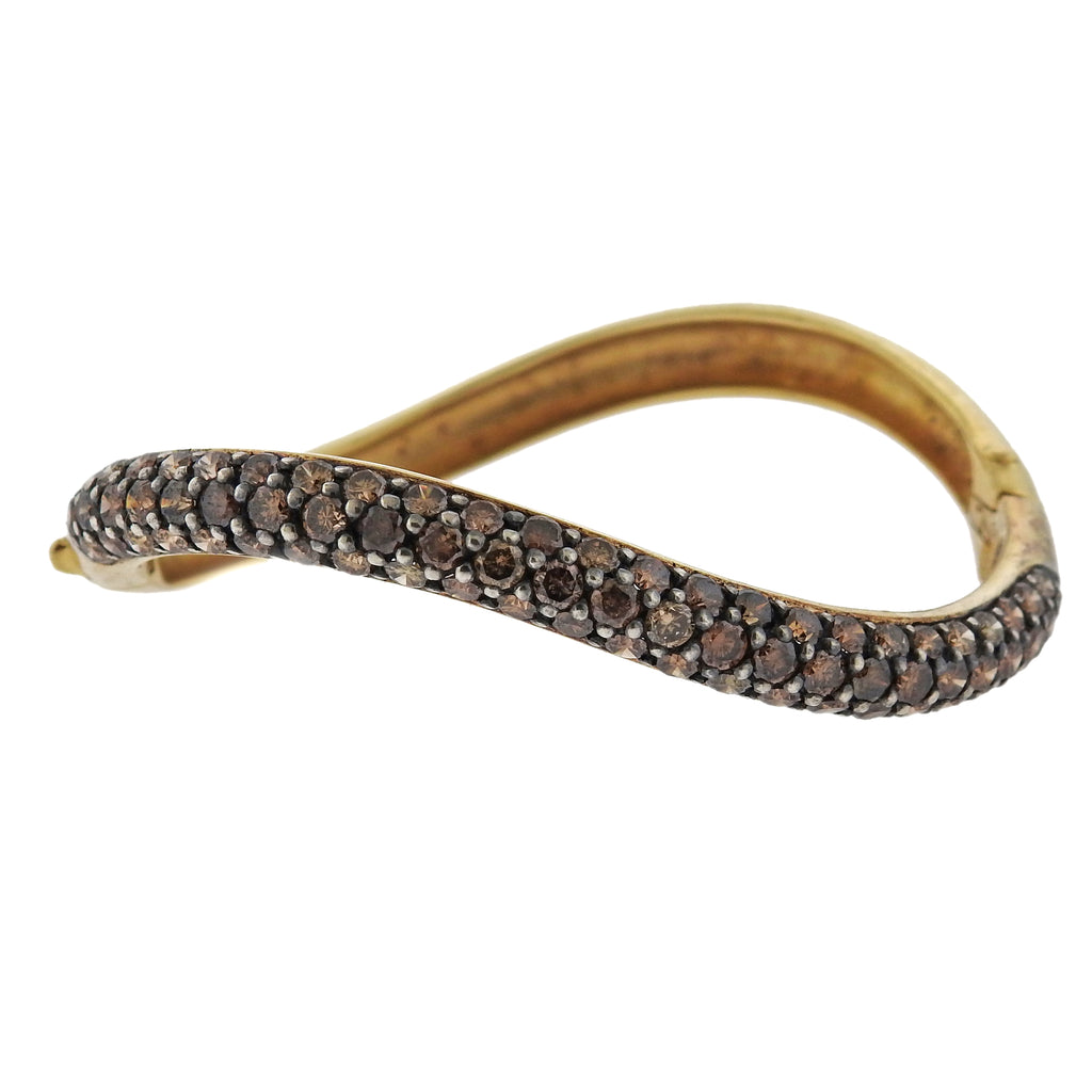 thumbnail image of Gioia 6.00 Carat Fancy Diamond 18k Gold Bangle Bracelet