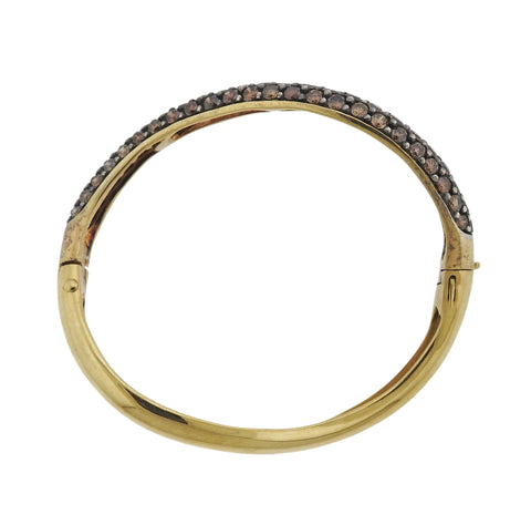 image of Gioia 6.00 Carat Fancy Diamond 18k Gold Bangle Bracelet