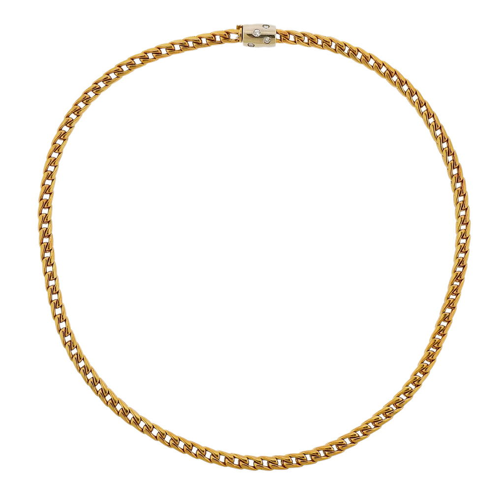 thumbnail image of Pomellato Gold Diamond Chain Necklace