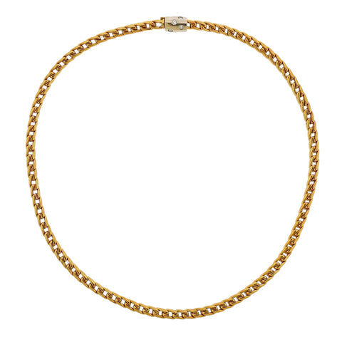 Pomellato Gold Diamond Chain Necklace