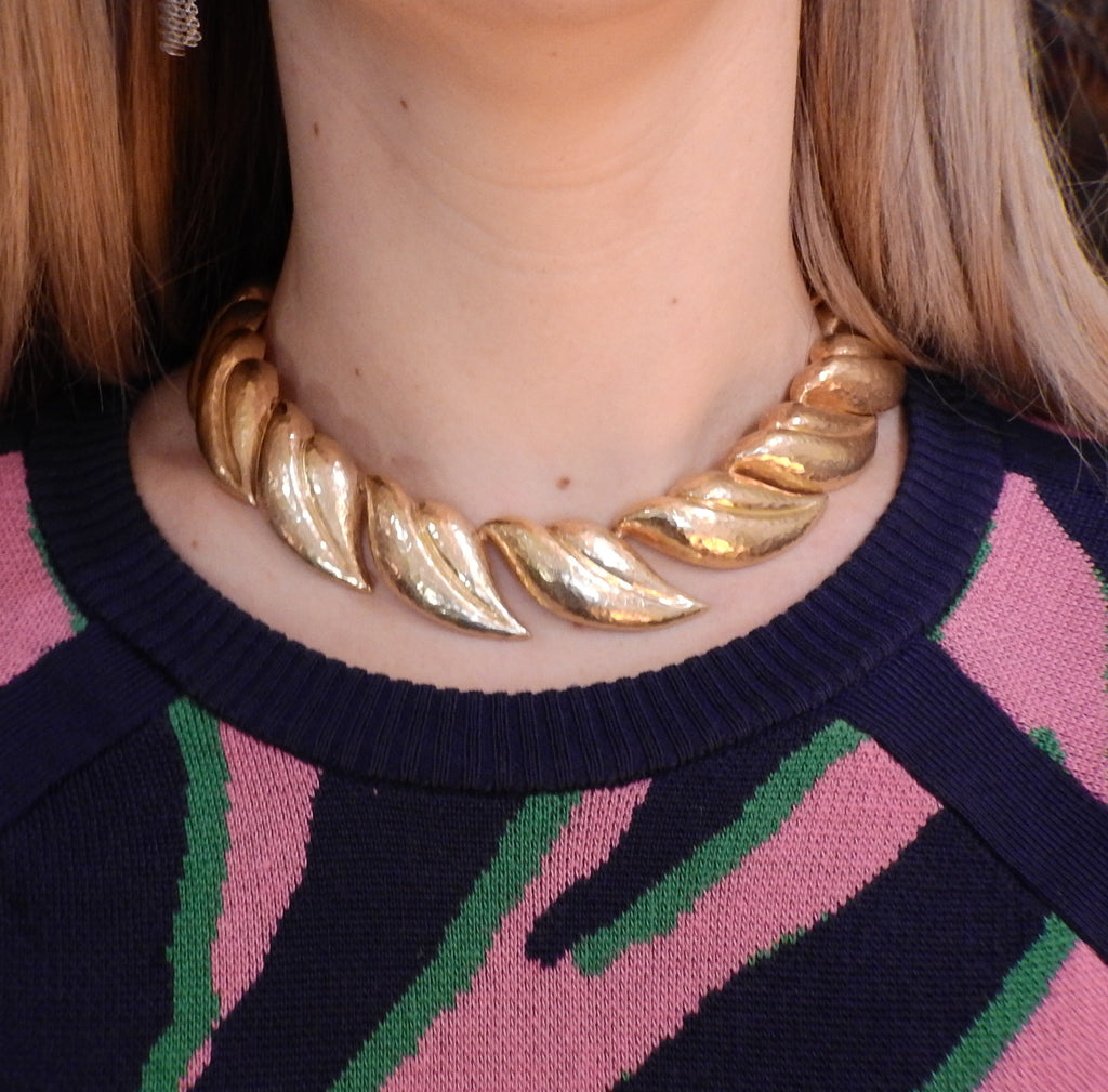 thumbnail image of Tiffany & Co Paloma Picasso Hammered Gold Necklace