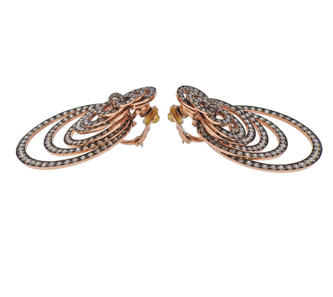 image of De Grisogono Gypsy 22 Carats Champagne Diamond Gold Earrings