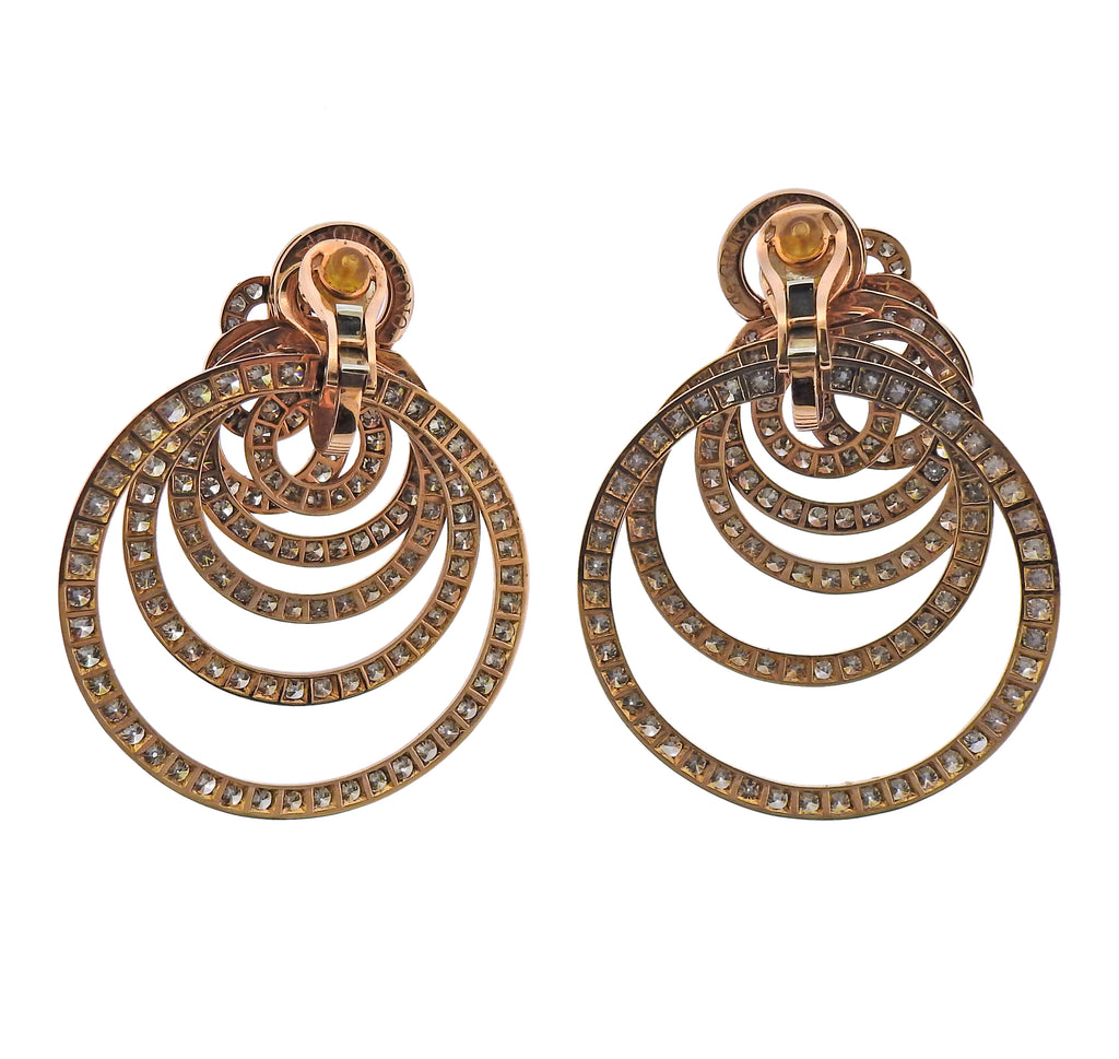 thumbnail image of De Grisogono Gypsy 22 Carats Champagne Diamond Gold Earrings