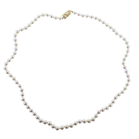 image of Mikimoto Gold 6.5-7mm Pearl Strand Necklace
