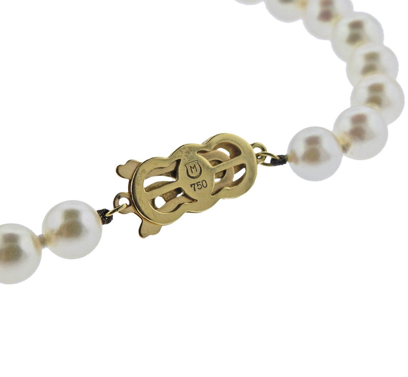 thumbnail image of Mikimoto Gold 6.5-7mm Pearl Strand Necklace