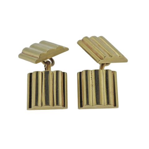 image of Tiffany & Co Gold Square Cufflinks