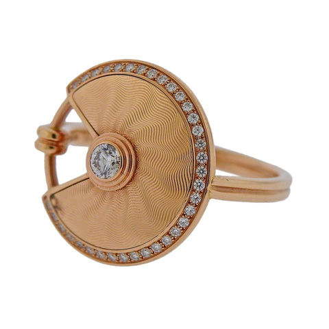 image of Cartier Amulette Diamond Rose Gold Ring