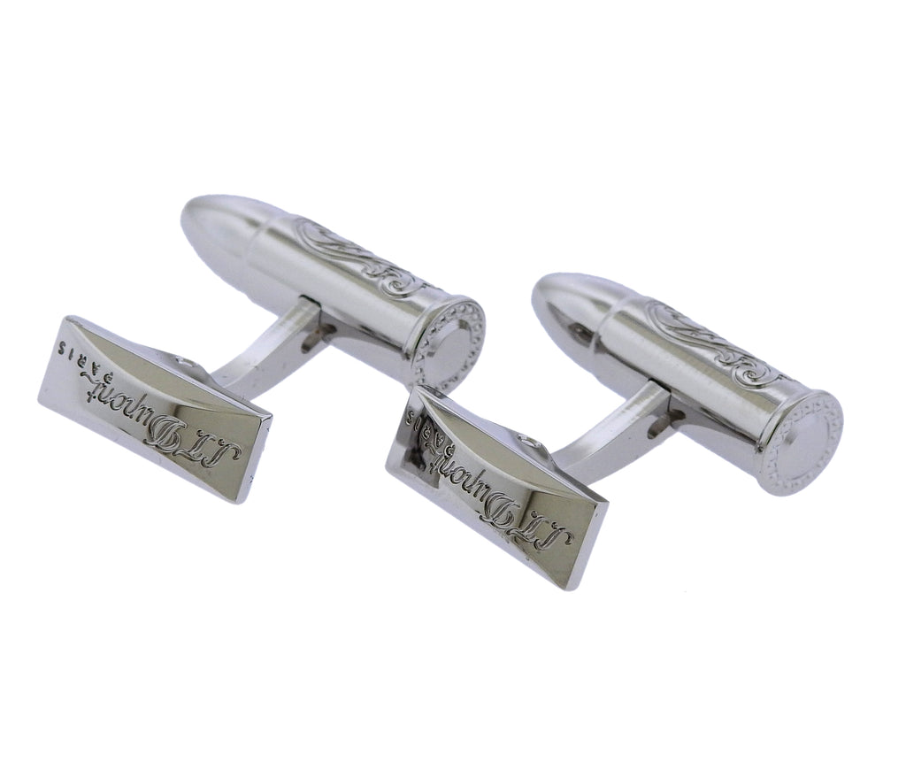 thumbnail image of S.T. Dupont Wild West Palladium Bullet Limited Edition Cufflinks