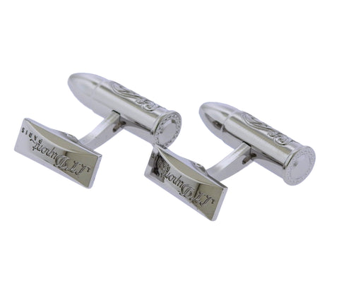 image of S.T. Dupont Wild West Palladium Bullet Limited Edition Cufflinks