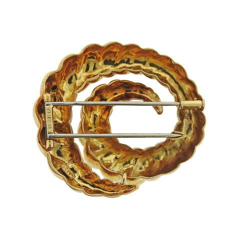 image of David Webb Gold Brooch Pin