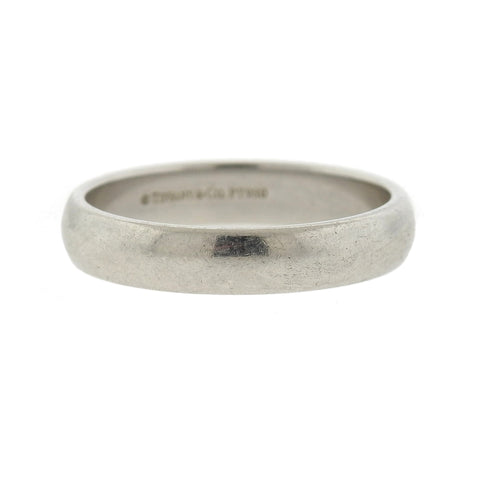 Tiffany & Co Platinum 4.5mm Wedding Band Ring