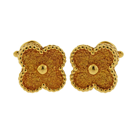 image of Van Cleef & Arpels Vintage Alhambra Yellow Gold Earrings