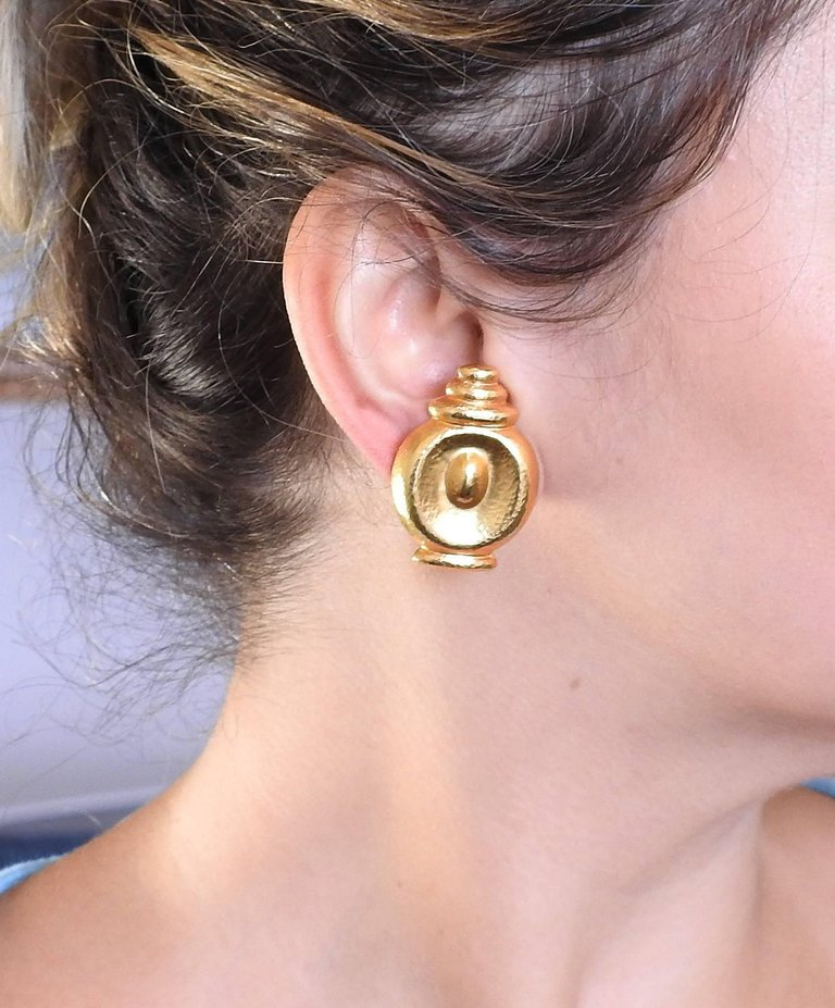 thumbnail image of Lalaounis Greece Gold Earrings