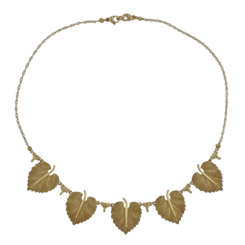 image of Buccellati Gold Leaf Necklace