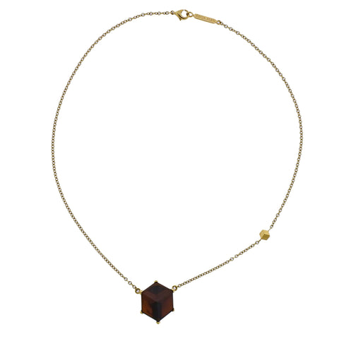 image of Paolo Costagli Smokey Topaz Pendant Gold Necklace
