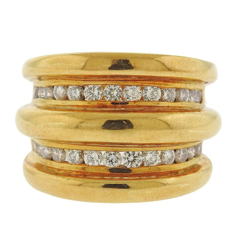 image of Modern Diamond Gold Ring