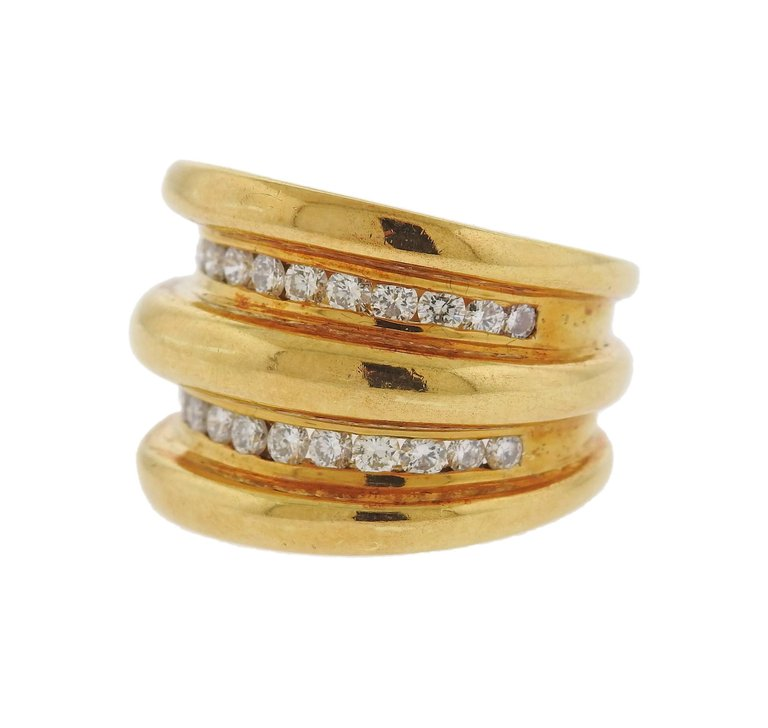 thumbnail image of Modern Diamond Gold Ring