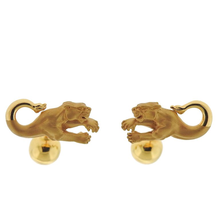 thumbnail image of Carrera y Carrera Panther Gold Cufflinks