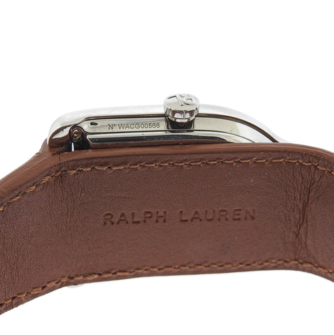 image of Ralph Lauren Stirrup White Dial Medium Automatic Watch