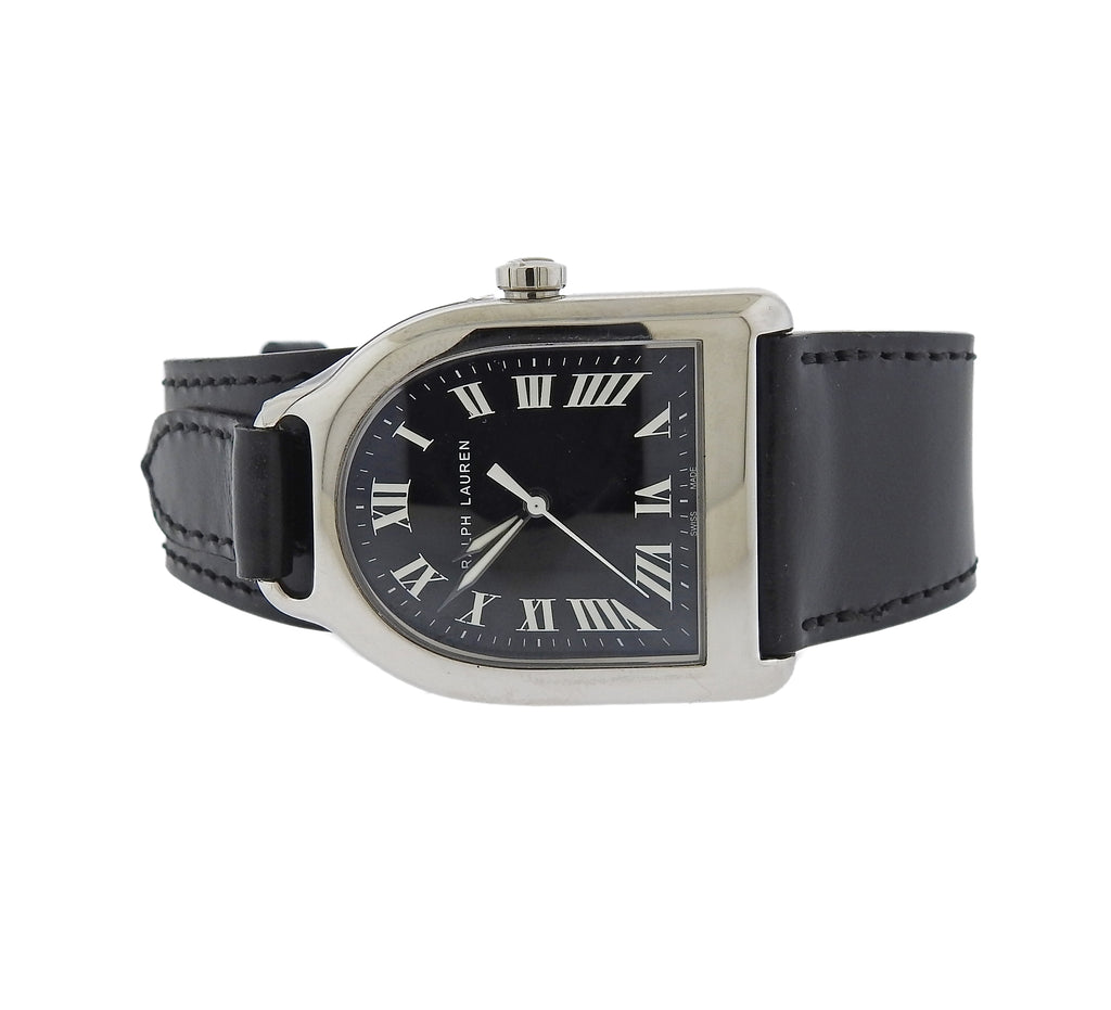 thumbnail image of Ralph Lauren Stirrup Black Dial Medium Automatic Watch