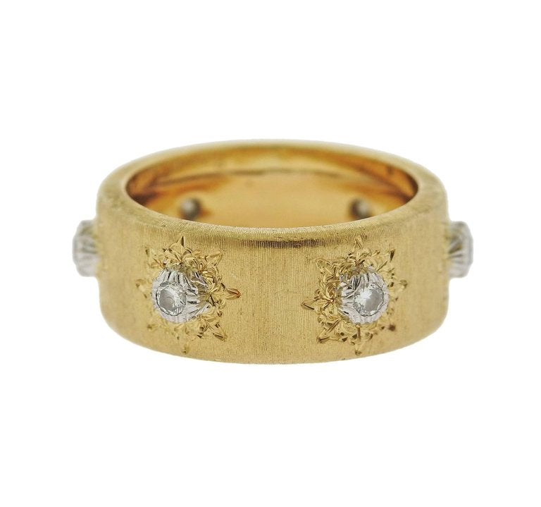 thumbnail image of Buccellati Diamond 18 Karat Gold Wedding Band Ring
