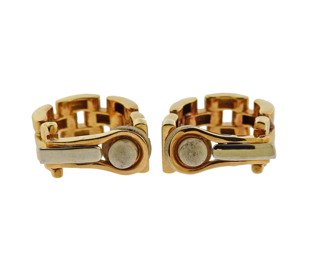 thumbnail image of Cartier Maillon Panthere Gold Hoop Earrings