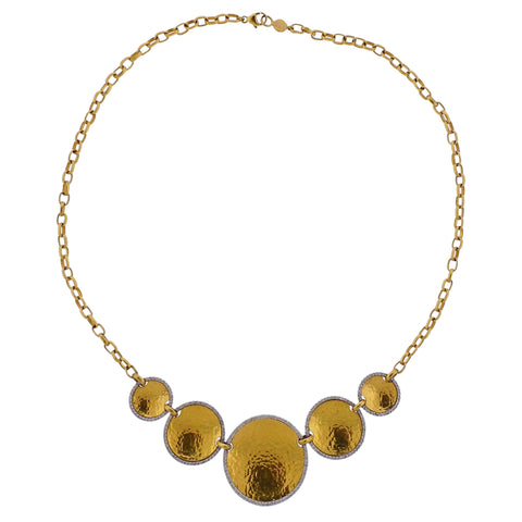 image of Gurhan Front Focus Diamond Gold Necklace