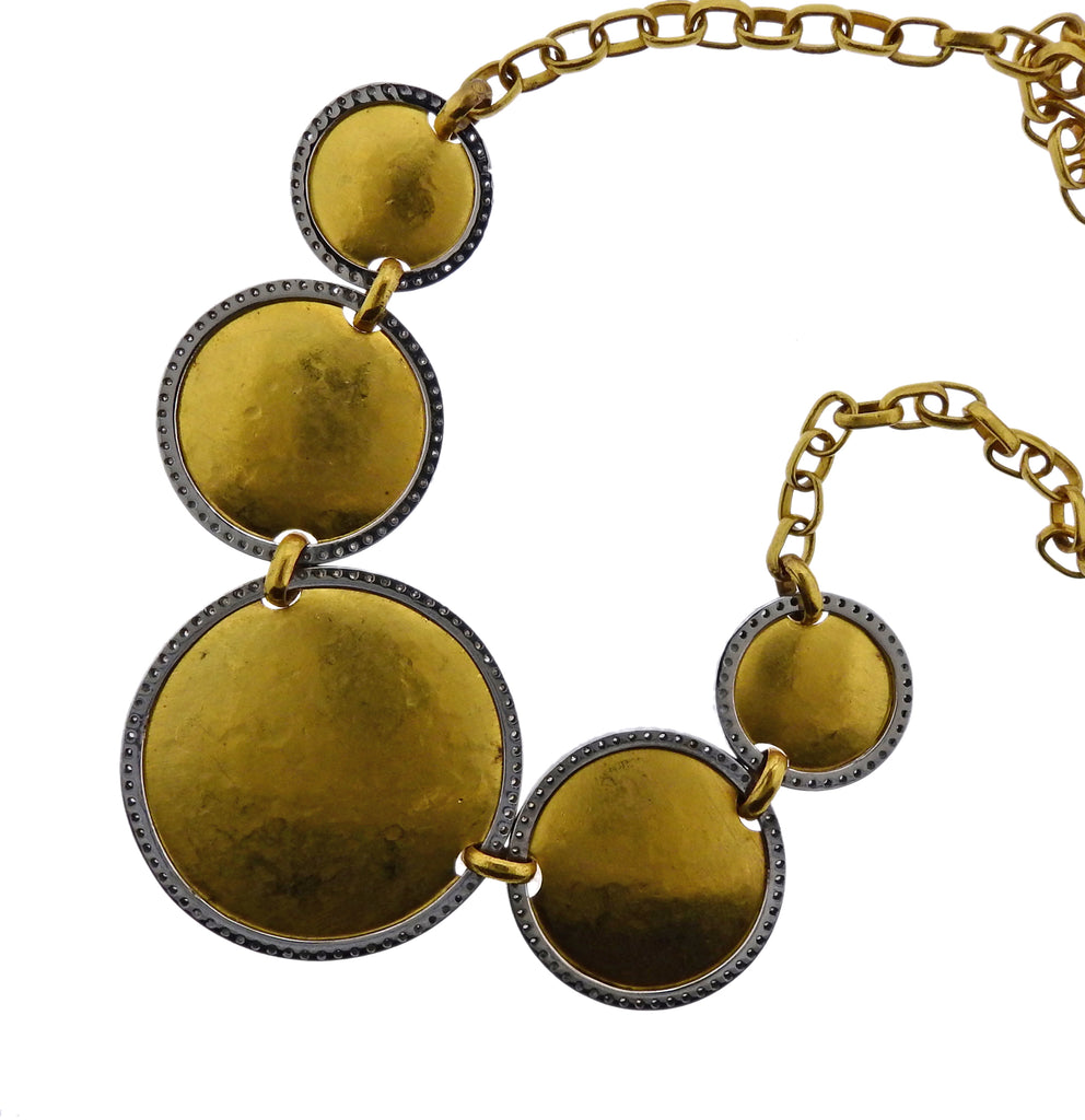 thumbnail image of Gurhan Front Focus Diamond Gold Necklace