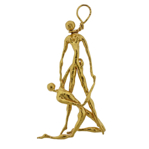 image of Jean Mahie 22k Gold Large Pendant