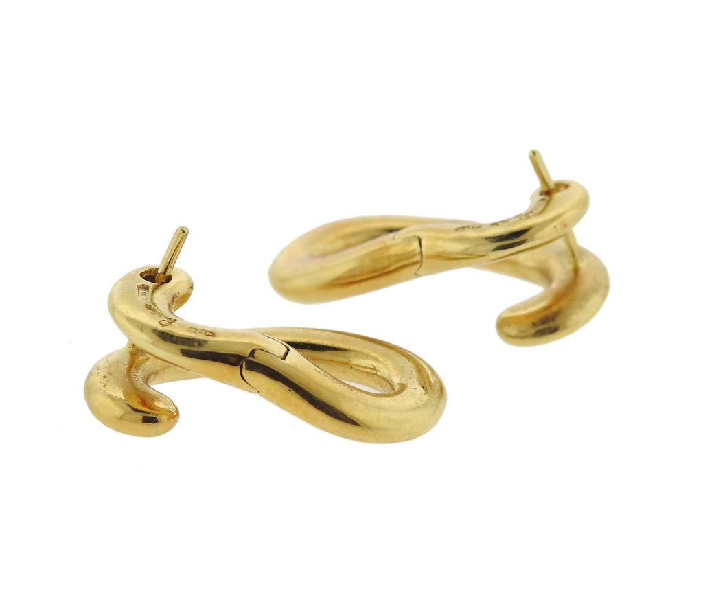 thumbnail image of Pomellato Paisley 18k Gold Earrings