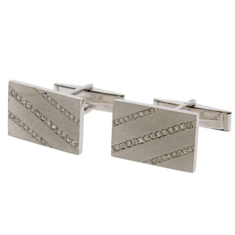 image of Midcentury Diamond Gold Cufflinks