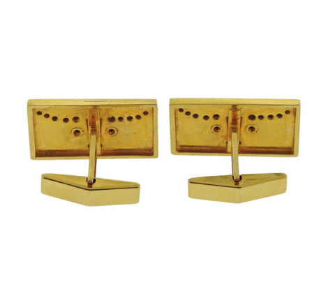 image of Diamond Gold Longhorn Bull Cufflinks